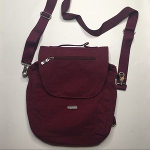 Baggallini Maroon Cover Flap Crossbody Travel Bag